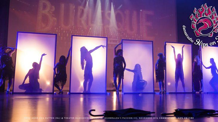 Burlesque choreography, Dance show Explosive, Esmeralda's Passion 3, November 2016