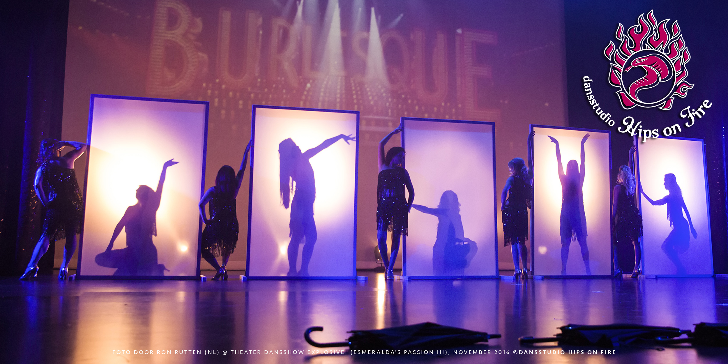 Burlesque choreography, Dance show Explosive, Esmeralda's Passion 3, November 2016